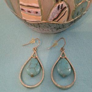 Turquoise - like Dangle Earrings