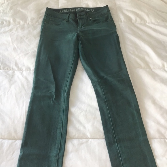Articles of Society Jeans - Articles of Society Emerald Denim Skinny Jean