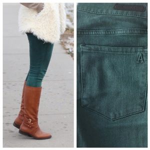 Articles of Society Emerald Denim Skinny Jean