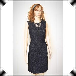 Just Taylor Dresses & Skirts - Just Taylor Faux Leather accent, pencil dress