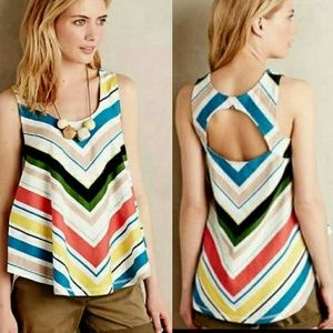 "Anthropologie Tops - Anthro ""Striped Swing Tank"""