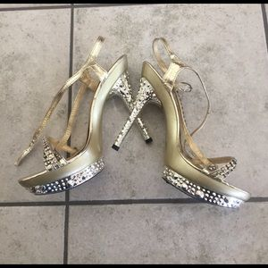 Gold heels size 8