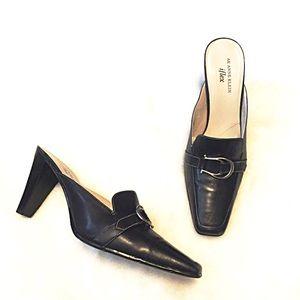 Anne Klein Shoes - ❣BOGO 1/2 off❣Anne Klein leather mules heels 10M