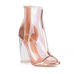 Rose Gold Transparent Bootie ! Lowest price