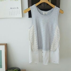 Anthropologie Tops - Anthropologie Moth Gray Lace Top