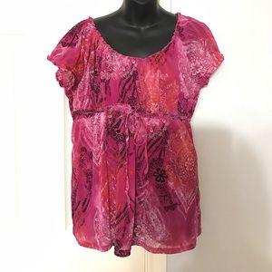 Axcess Tops - ❤SALE❤ Axcess pink blouse sz XL