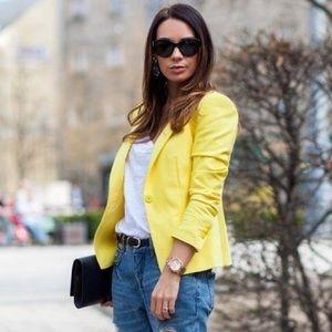 Zara Jackets & Blazers - Yellow single button Zara blazer