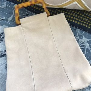 Handbags - Cream Suede bag