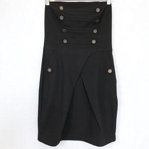 Zara TRF Collection Black Strapless Dress