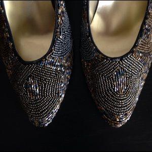 Wild Pair Shoes - WILD PAIR beaded heels