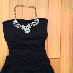 Susana Monaco Black Strapless Dress Sz S