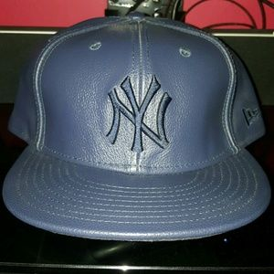 New Era Other - NY Yankees Leather Fitted Hat