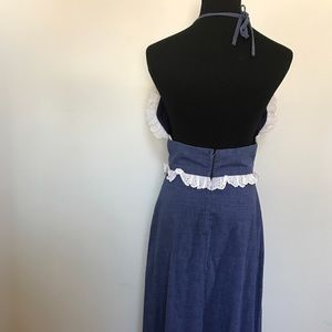 Vintage Dresses - Vintage Chambray Halter Sun dress