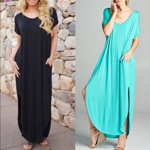 CHARLIZE solid boho dress - MINT