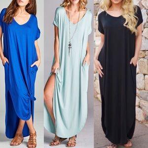 CHARLIZE solid boho dress - 4 colors