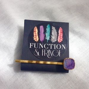 Function & Fringe Accessories - 🆕 Gold Druzy Bobby - Purple