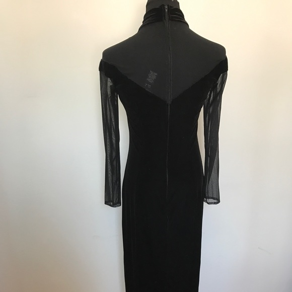Vintage Dresses - Gorgeous vintage velvet and mesh dress gown