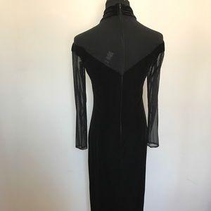 Vintage Dresses - Gorgeous vintage velvet and mesh dress gown