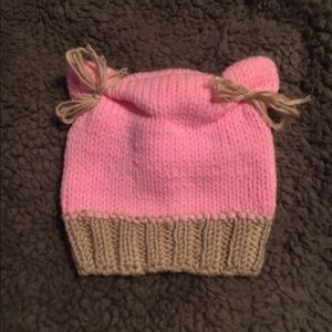 Other - Kitty ears Infant knit hat for photo prop