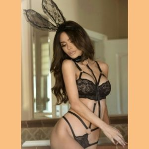 Other - NEW! 3pcs Roleplay Bunny Lace Playsuit