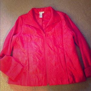 COLDWATER CREEK coral lightweight jacket size L