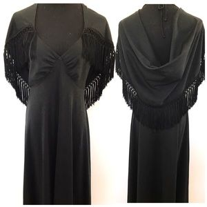 Gorgeous vintage 70's fringe dress