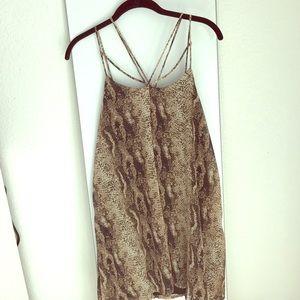 Dresses & Skirts - Snake Print Strappy Mini Dress