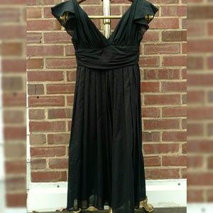 Foley + Corrina full skirt black dress