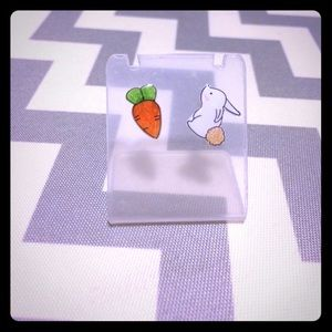 Brand new Bunny and carrot stud earrings