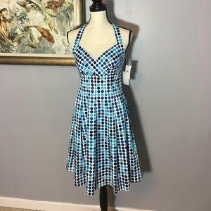 Calvin Klein Fit & Flare Halter Dress NWT!