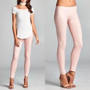 DEBORAH slick leggings - BLUSH