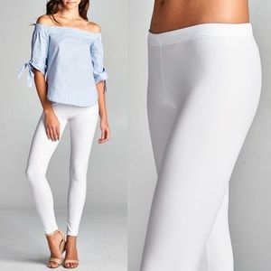 DEBORAH slick leggings - WHITE