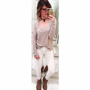James Perse Tops - ➡James Perse Cream Long Sleeve Tee⬅