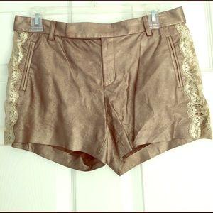 Ralph Lauren Purple Label Pants - New RL Gold Metallic Shorts