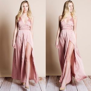 Bare Anthology Dresses & Skirts - Satin Backless Maxi Dress