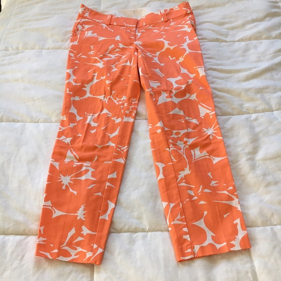 Ann Taylor Pants - SALE❗️Ann Taylor Orange Abstract Floral Chino