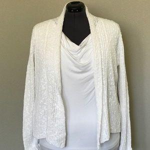 Eileen Fisher Sweaters - ⭐EILEEN FISHER Orig $325 ⭐WHITE LINEN/COTTON CARDi