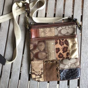 Coach Signature Patchwork Swingback Crossbody Bag