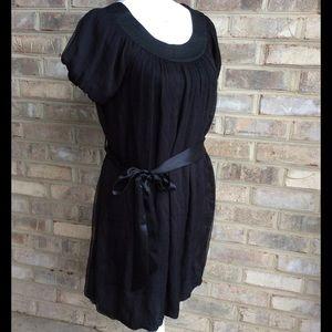 Catherine Malandrino Dresses & Skirts - Catherine Malandrino -Black silk shift dress -sz 4