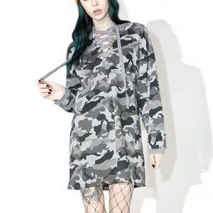 dollskill Sweaters - Dollskill Lace Up Sweatshirt