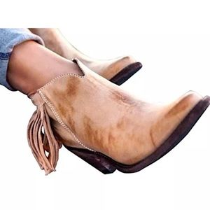 Old Gringo Shoes - OLD GRINGO Beige Ankle Boots Leather Cowgirl Shoes