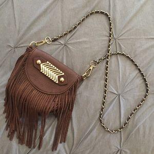 WINDSOR Handbags - Fringe crossbody with chain strap