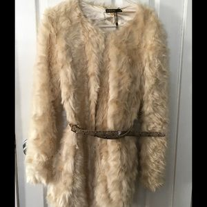 Supertrash Jackets & Blazers - Faux fur cream top coat
