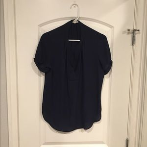 Navy Pleione blouse from Nordstrom