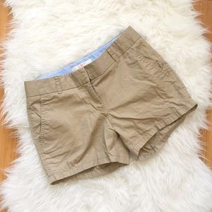 J. Crew Khaki Tan Chino Shorts Sz 0