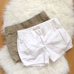J. Crew White Chino Shorts Sz 0