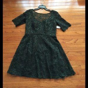 David's Bridal Dresses & Skirts - Davids Bridal olive green vintage lace dress