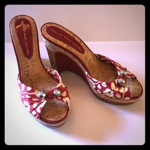 Marc Jacobs red patent wedges NEW!