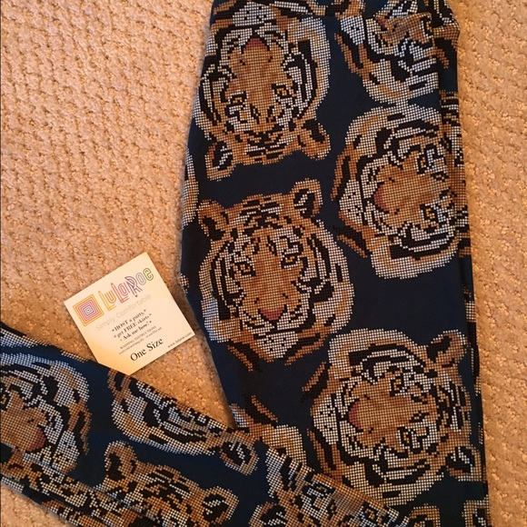 c3678af1603c1c LuLaRoe Pants | Bnwt Llr Detroit Tiger Leggings Os Htf Unicorn ...