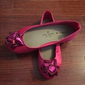 kate spade Other - Kate Spade Gapkids pink satin flats size 13